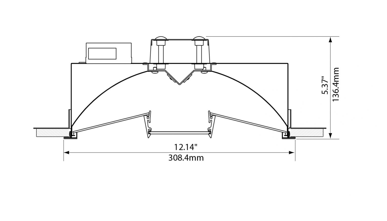 Focal point lighting feql11 equation 1x1 architectural led recessed specification sheet arubaitofo Images