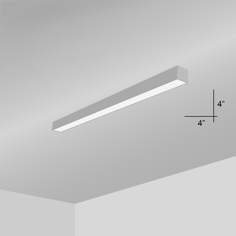 Alcon Lighting 11104-4-S Beam 44 Architectural LED 4 Foot Linear ... for Wall Foot Light  156eri