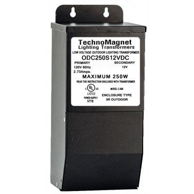 ODC250S12VDC 250W 12V DC Indoor/Outdoor Dimmable LED DC Magnetic Transformer Driver