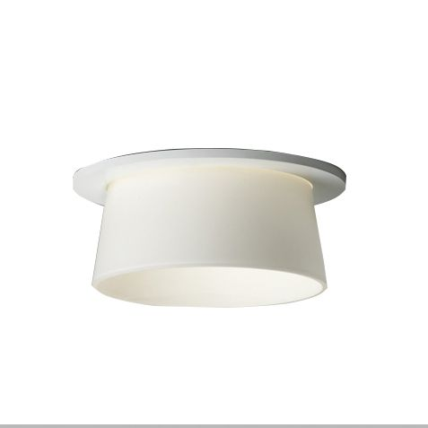 Delray Lighting 4832 6 Inch Semi-Recessed Fluorescent Downlight Glass Reflector