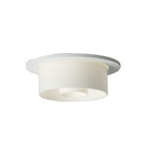 Delray Lighting 4835 6 Inch Semi-Recessed Fluorescent Downlight Concentric Glass
