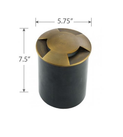 Dame Die Cast Brass Low Voltage LED Well Light
