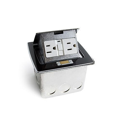 Lew Electric PUFP-CT-BK Pop-out Counter Top Plate with a 20 AMP GFI Receptacle (Includes Mounting Box)