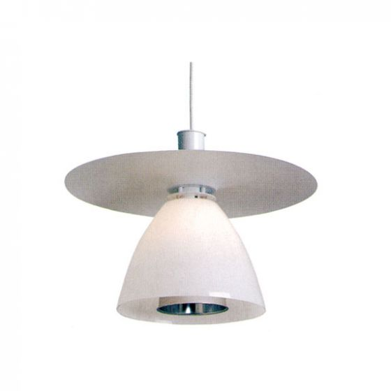 Delray 2290 Aspect Fluorescent Glass Decorative Pendant with Shade