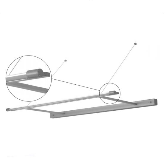 Delray 23 Series Stick T5 Single Lamp Wall Mount Cantilever Light Fixture