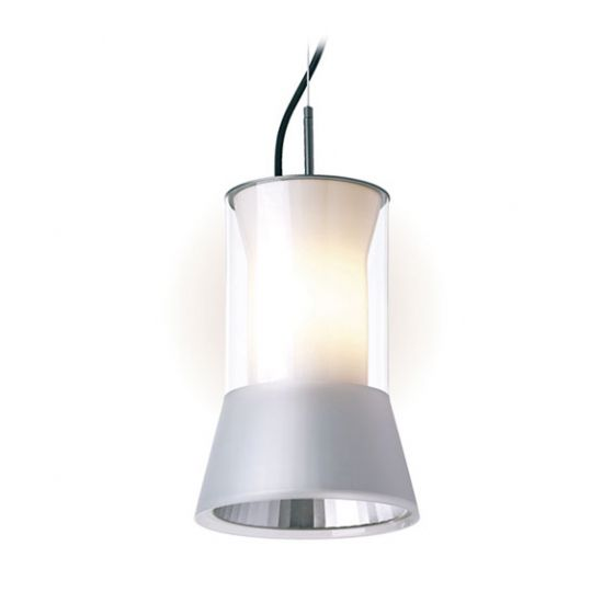 Delray Lighting 610 Kone Clear Glass Luminaire Pendant with Downlight