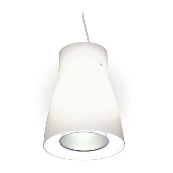 Delray Lighting 623 Kone II Opal Glass Luminaire Pendant with Downlight