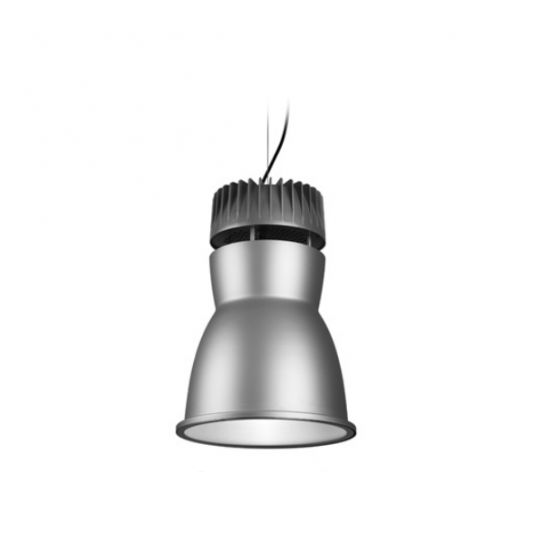 Delray Lighting 7714 Rocket I Specular Alzak High Bay Architectural Pendant Open