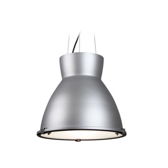 Delray Lighting 7801 Sonar II Low Bay Architectural Pendant Frosted Lens with Uplight