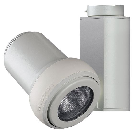 Lightolier Mini HID Step Spot, 39 Watt PAR20 Metal Halide HID Track Head 8105
