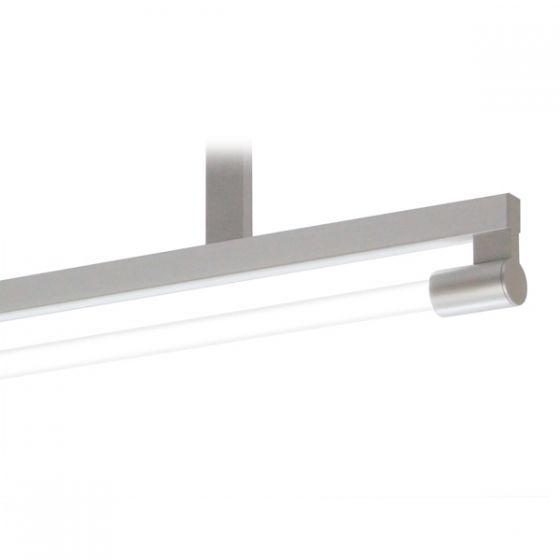 Delray Stick T5 Bare Single Lamp Ceiling Stem Mount Fluorescent Pendant