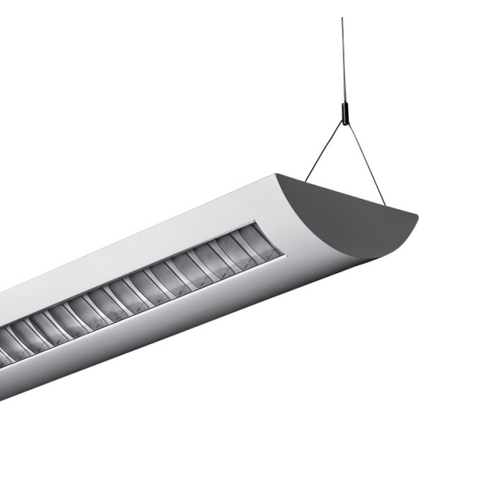 Alcon Lighting Delano 10104 T8 or T5HO 4 Foot Fluorescent Architectural Linear Suspended Light Fixture – Uplight (Indirect) and Downlight (Direct)