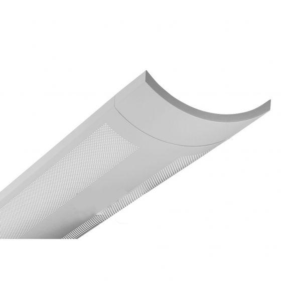 Finelite Series 12 Fluorescent Drop Fixture Pendant Perforated S12-P