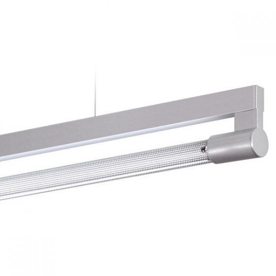 Delray 12 Series Stick T5 Fluorescent Rail Pendant 2-Piece Perforated Diffuser