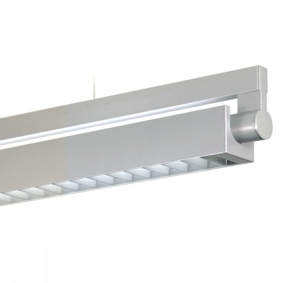 Delray 20 Series Stick T5 Fluorescent Rail Pendant Direct / Indirect Square Louver