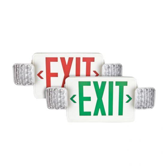 TCP LED207 LED Exit Sign Light with LED Emergency Light Combo