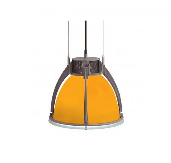 Alcon Lighting Santorini 8010 Architectural High Bay Fluorescent Commercial Lighting Pendant - Glass Shade