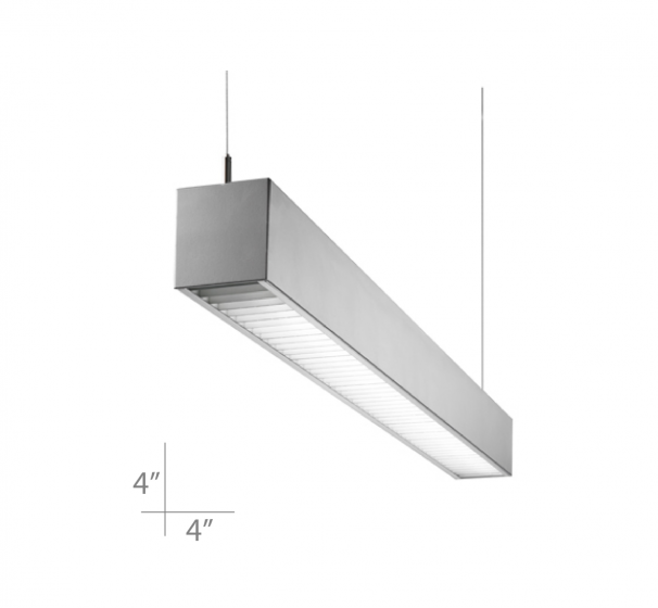 Alcon Lighting Colt 12220 Linear LED Pendant Light Fixture With Parabolic Louver - Direct
