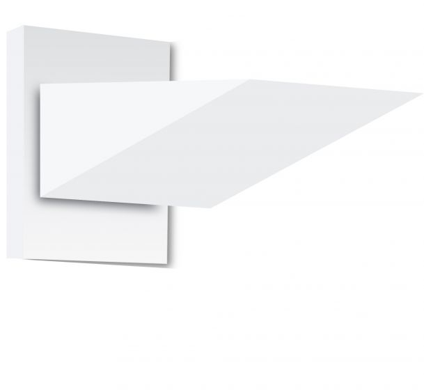 Belfer Lighting 7215 The Wedge Light Wall Mount Sconce - 1 Lamp Fixture with Square Backplate