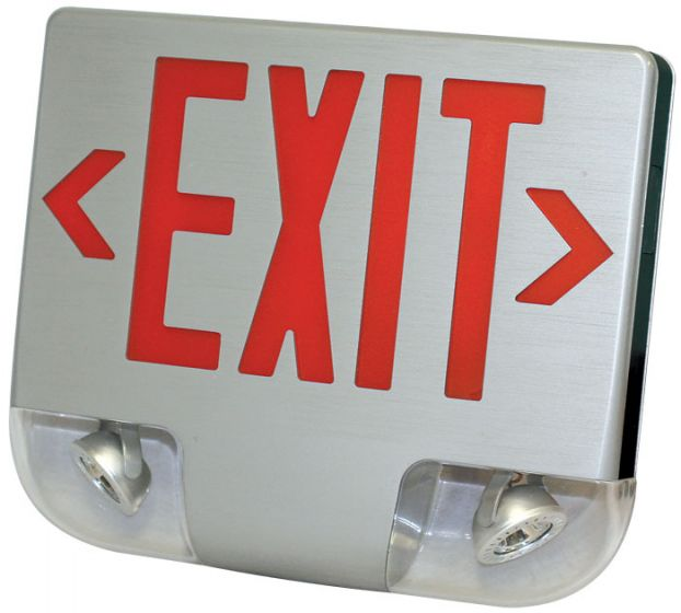 Alcon Lighting DCC LED Exit Sign with Emergency Light