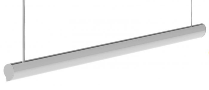 Finelite MU-O Muro-Oval 2ft, 4ft, 8ft, and 16ft T8 LED Wall and Ceiling Fixture