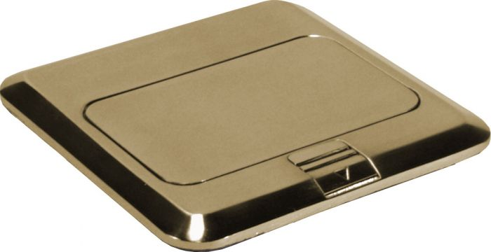Orbit Brass Industrial Floor Box Pop-up with RJ-45