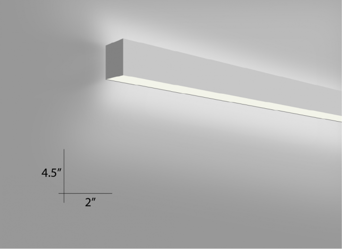 Alcon Lighting Beam Wall Mount 10102 Fluorescent Light Fixture - Direct / Indirect