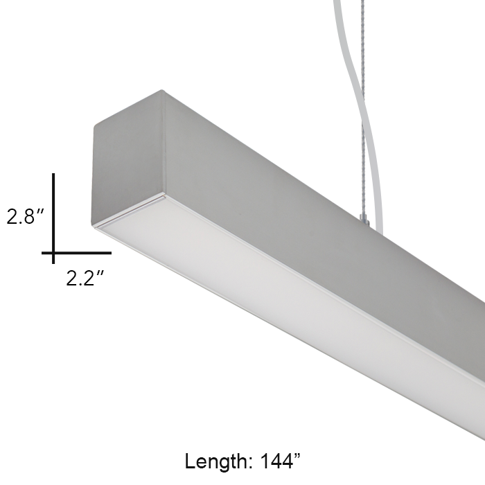 suspension lighting fixtures. Alcon Lighting 12169-12 Beam 22 Architectural LED 12 Foot Linear Suspension Pendant Mount Commercial Light Fixture Fixtures Y