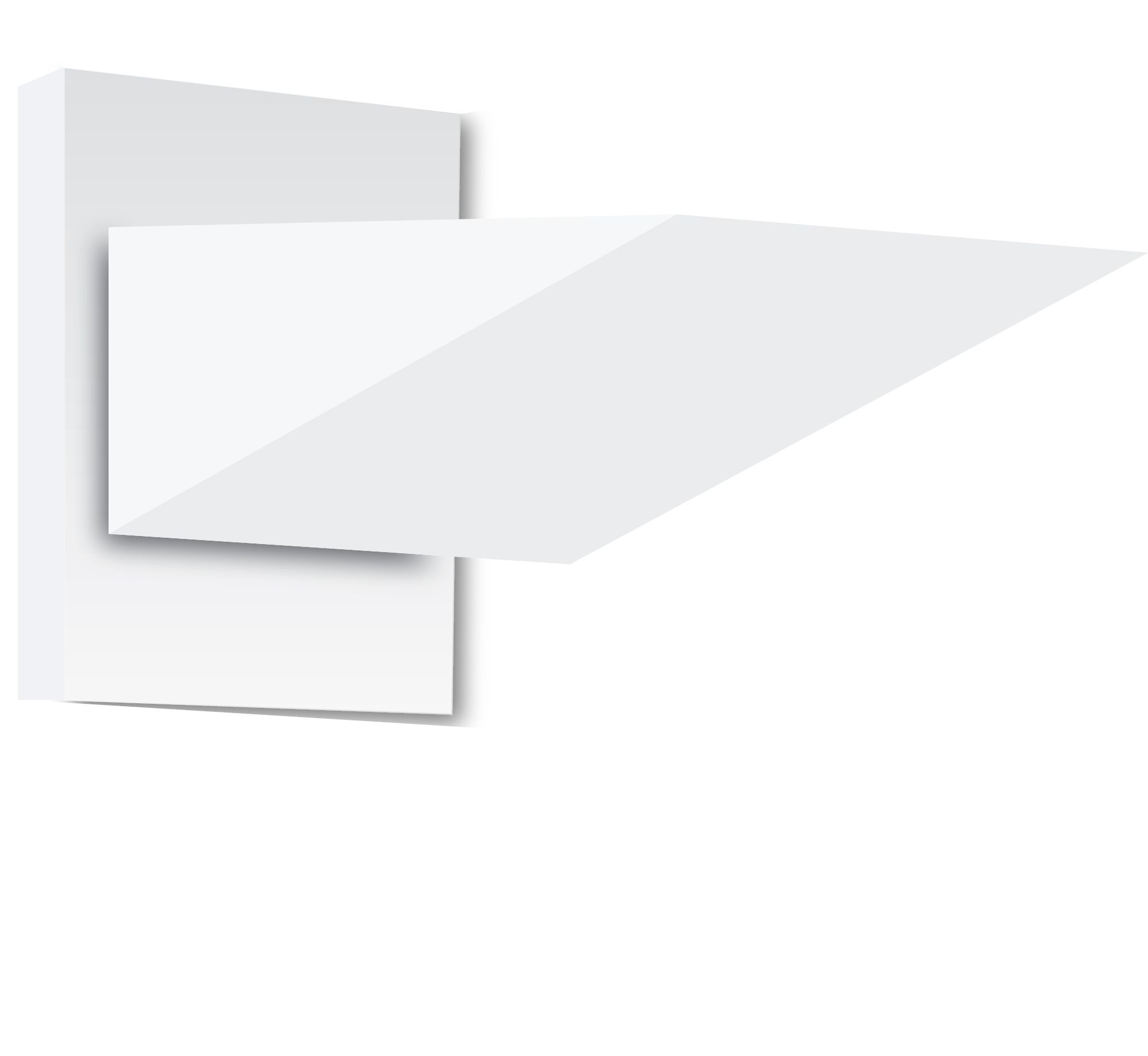 Belfer lighting 7215 the wedge light wall mount sconce belfer lighting 7215 the wedge light wall mount sconce 1 lamp fixture with square backplate mozeypictures Images