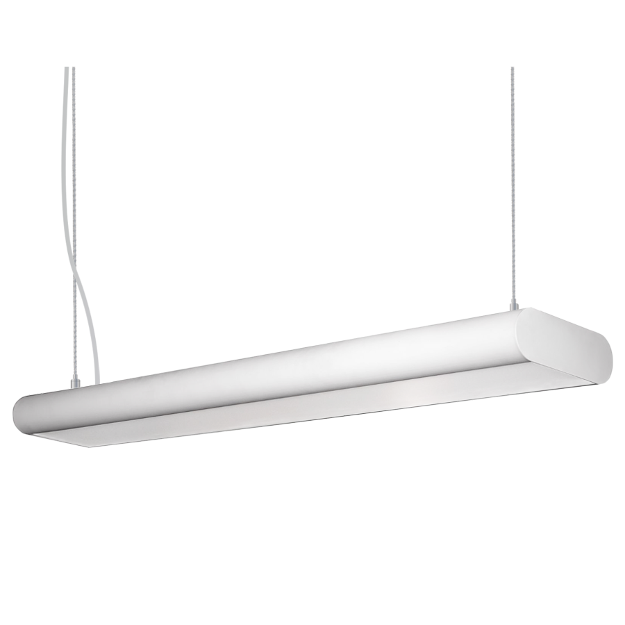 suspension lighting. Alcon Lighting 12146 Capsule Architectural LED 4 Foot Linear Suspension Pendant Mount Direct/Indirect Light Fixture
