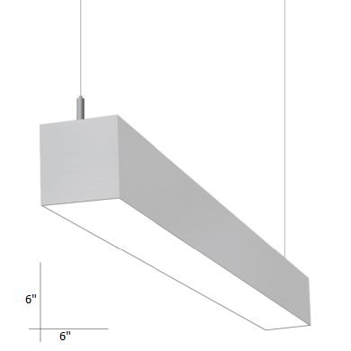 linear suspended lighting. Alcon Lighting 22166-4 I66 Series Architectural LED 4 Foot Linear Suspended Pendant Mount Direct Light Fixture - White 4000K 4200 Lumens Non-Dimmable N