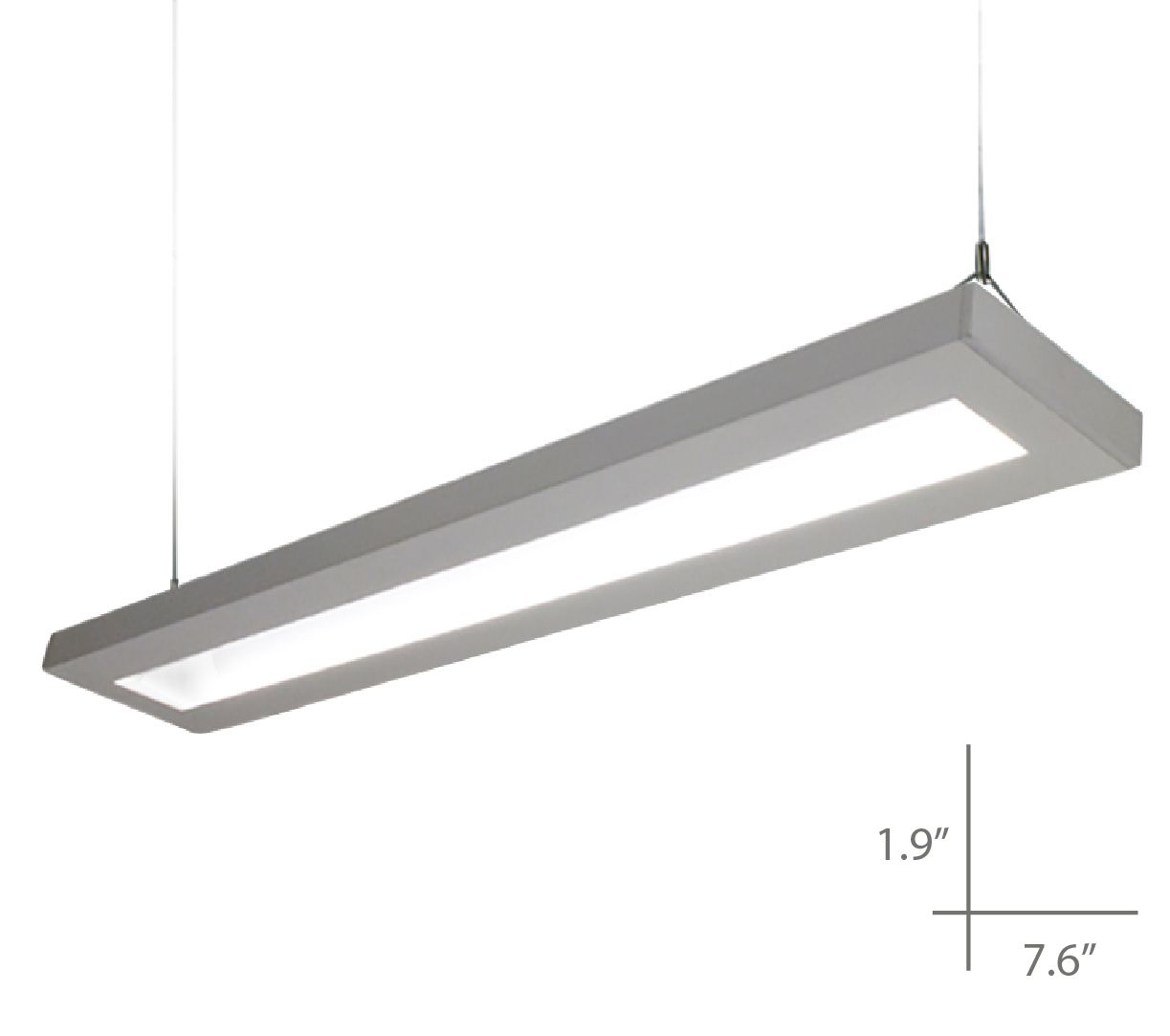 suspended lighting. Alcon Lighting 12113-4 NLP Architectural LED 4 Foot Linear Suspended Pendant Mount Direct/Indirect Light Fixture E