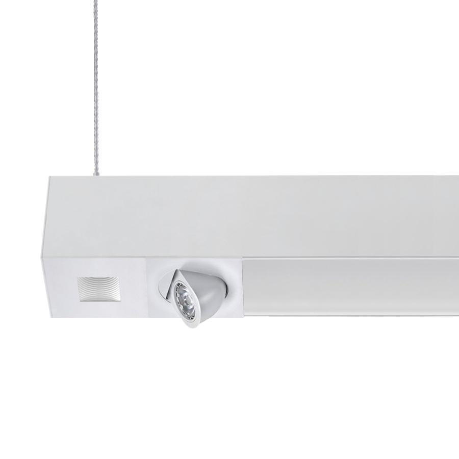 suspension lighting. Alcon Lighting 12000-4-4F Tesla Quadro Architectural LED 4 Foot Linear Suspension Pendant Mount Direct/Indirect Luminaire
