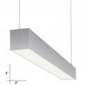 Alcon Lighting 12107-4 Beam 44 Series Architectural LED 4 Foot Linear Pendant Mount Direct Down Light Fixture