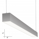 Alcon Lighting 12107-8 Beam 44 Series Architectural LED 8 Foot Linear Pendant Mount Direct Down Light Fixture