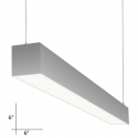 Alcon Lighting 12109-4 Beam 66 Series Architectural LED 4 Foot Linear Pendant Mount Direct/Indirect Light Fixture