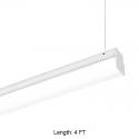 Alcon Lighting 12171-4 Block Architectural LED 4 Foot Linear Suspension Lighting Pendant Mount Direct Light Strip