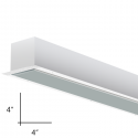 Alcon Lighting 14008-8 Planor Series Architectural LED 8 Foot Linear Recessed Mount Ceiling Light Fixture
