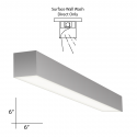 Alcon Lighting 11106-4-SWW Beam 66 4 Foot Architectural LED Linear Surface Mount Down Light Fixture