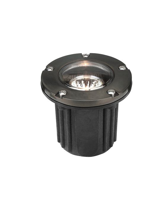 Alcon Lighting 9026-GM Harper Architectural Grade LED 5 Inch Low Voltage In-Ground Drive-Over Rated Gun Metal Well Light