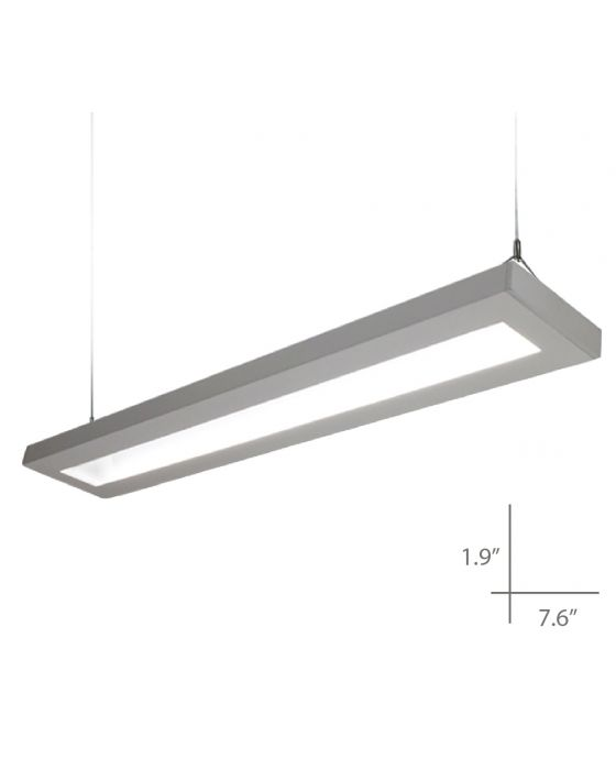 Alcon Lighting 12113-8-U NLP Architectural LED 8 Foot Linear Suspended Pendant Mount Indirect Up Light Fixture