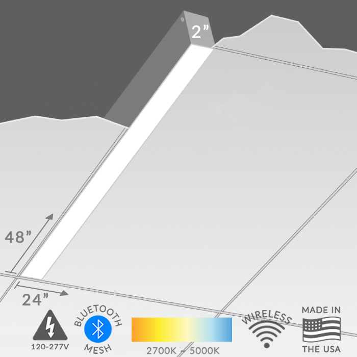 The MARK Architectural Lighting S4L Slot 4 Recessed Ceiling