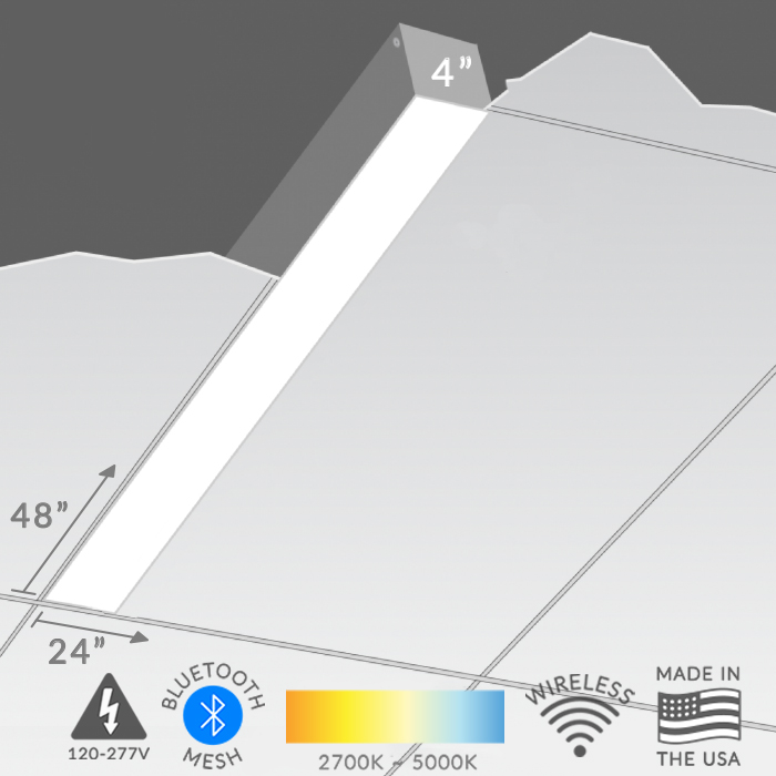 The MARK Architectural Lighting S4L Slot 4 Recessed Ceiling Strip