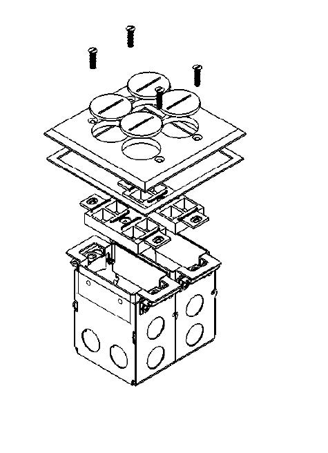 orbit brass industrial floor box with duplex receptacle