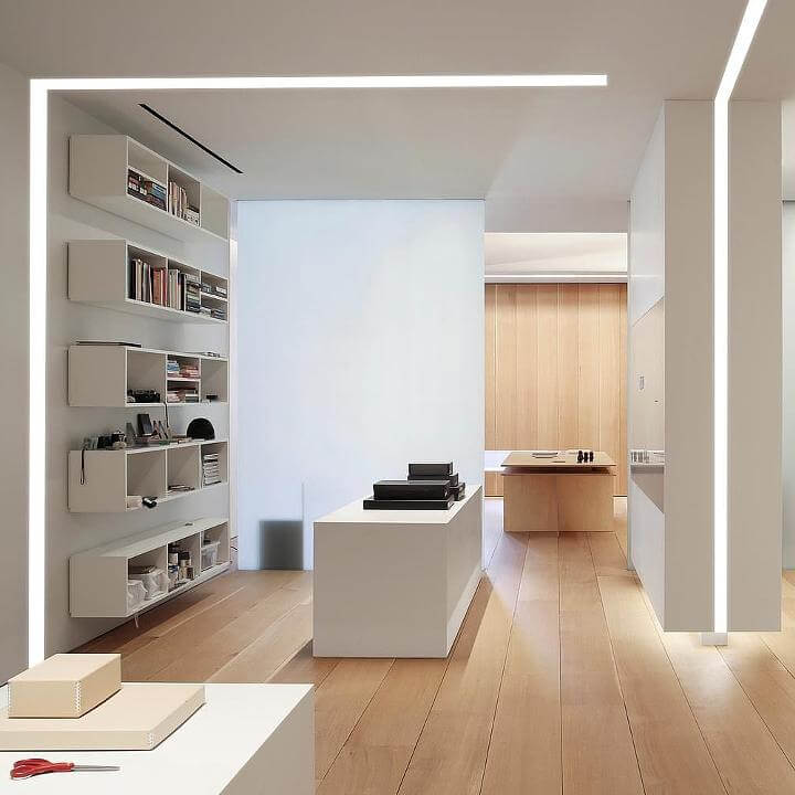 Suspended Linear Led Light Fixtures Direct Indirect