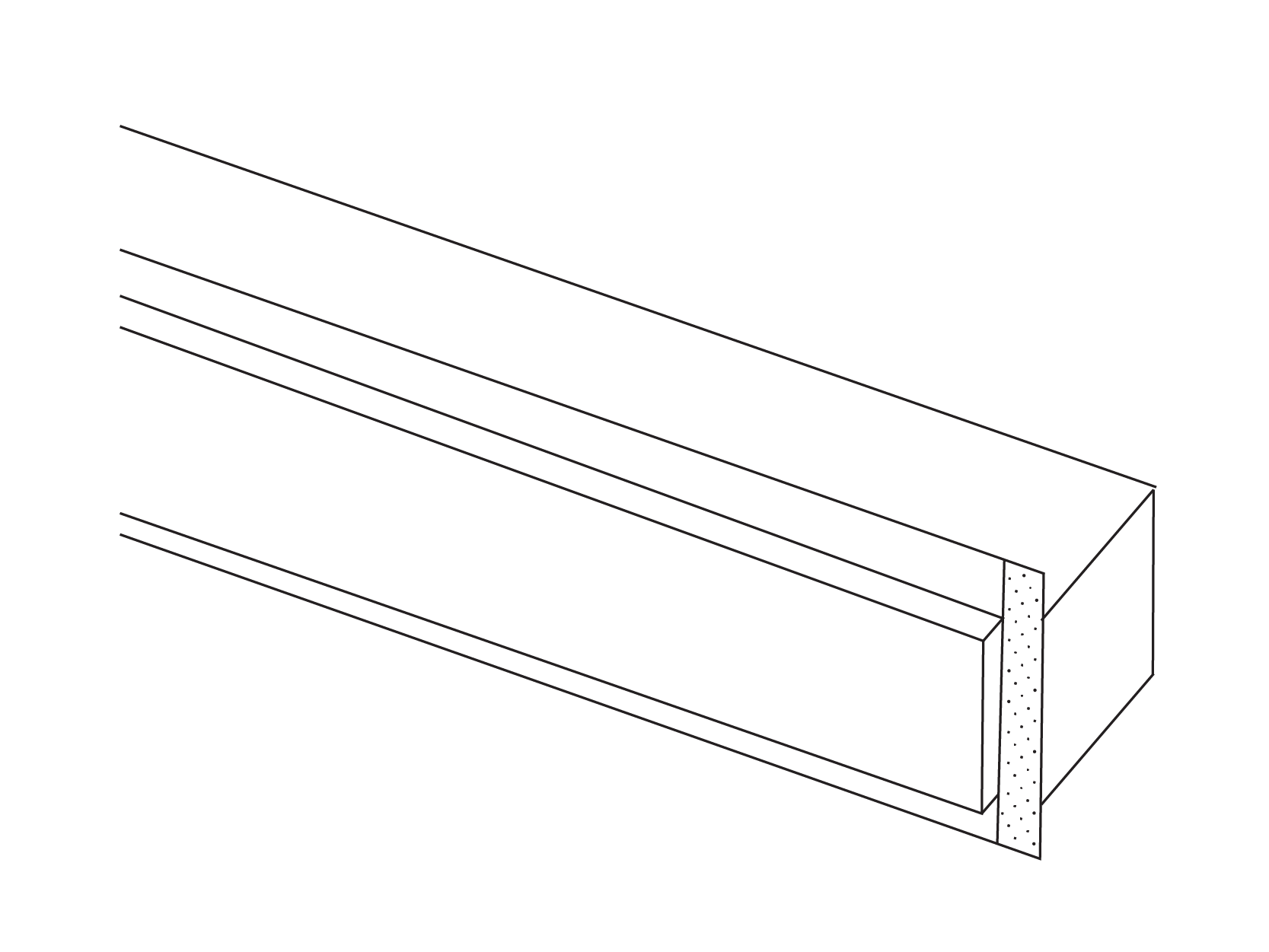 Recessed Wall